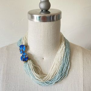 Vintage Seed Bead Necklace With Decorative Clasp